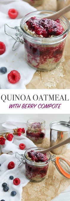 Quinoa Oatmeal with Berry Compote | Britt's Blurbs