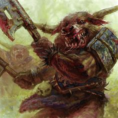 A savage Minotaur, guardians of the Chaos tainted temples of the Dark Gods