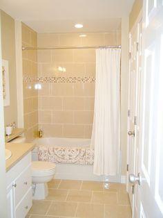 Love this bathroom remodel.  Possible idea for main bath redo.