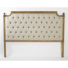 Zentique Inc. Queen Louis Tufted Headboard...would like the trim to be off-white or cream
