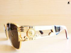 f8b366412d5 VERSACE S74 vintage sunglasses made in Italy NOS by BoomQVintage Vintage  Sunglasses