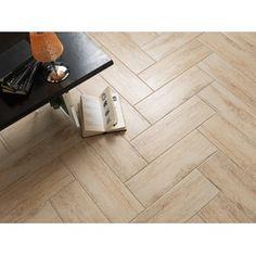 Wayne Tile Imports EcoWood   faux wood porcelain tile6x18 Ecowood Almond porcelain wood tile set in herringbone pattern  . Faux Wood Tile Herringbone Pattern. Home Design Ideas