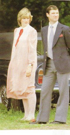 May 22, 1982: Princess Diana with her Personal Protection Officer at the polo grounds of the Guards Club, Windsor.