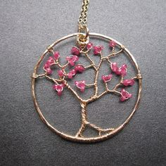 DIY idea (though the link is to a for-sale)..cherry tree pendant