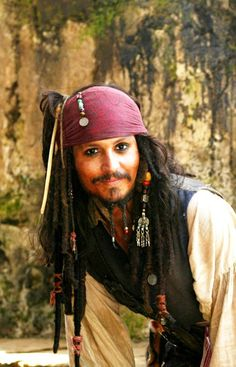Johnny Depp as Captian Jack Sparrow in Pirates of the Caribbean