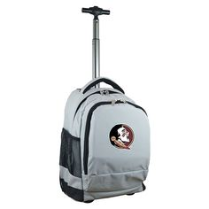 Florida State Seminoles Premium Wheeled Backpack, Grey