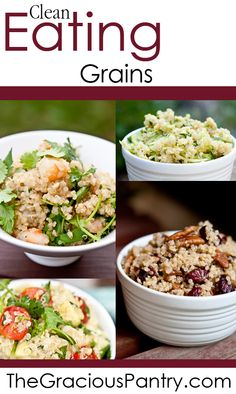 Clean Eating Grain Recipes  #cleaneating #eatclean #cleaneatingrecipes