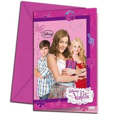 Disney Violetta party invites packet of 6 with envelopes Party Napkins, Party Plates, Party Cups, Violetta Disney, Carton Invitation, Pajama Party, Party Invitations, Maya, Unique