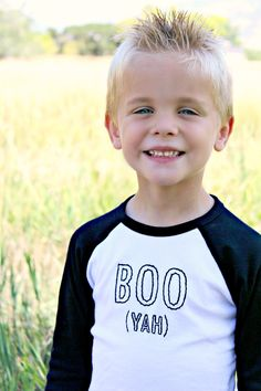 """Darling embroidered kids Halloween shirts from &apparel! I love this """"Boo - yah"""" saying. Ha ha!"""