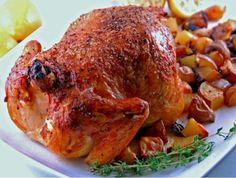 Pollo asado con patatas jugoso y crujiente ¡Un 10!    #PolloAsado #PolloAsadoConPatatas #PolloAlHorno #Pollo #RecetasDePollo #RecetasDeAves #RecetasDeCarne