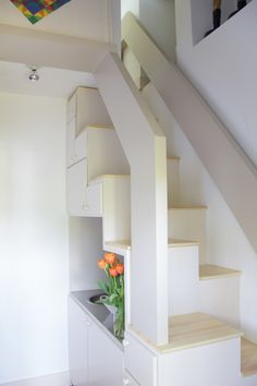 Loft Access Ideas | compact ladder and a trapdoor designed in minimalist style provide ...