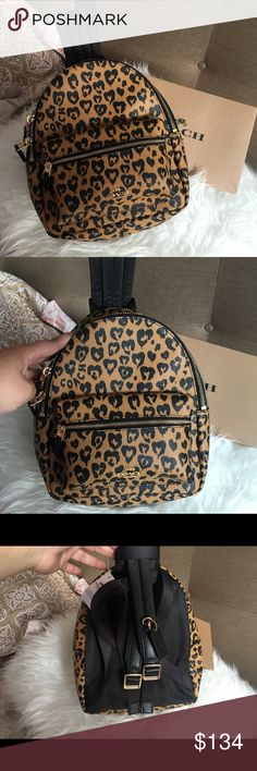 ff087a8412ee New COACH Mini Backpack Animal Print Charlie Beautiful piece by Coach.  Brand new with retail. Mini BackpackBackpack BagsWild ...