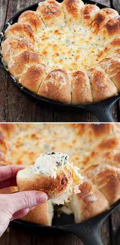 Warm Skillet Bread With Spinach Dip