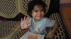 Indian Kid Being Awesome, Kid Painting with both Hands