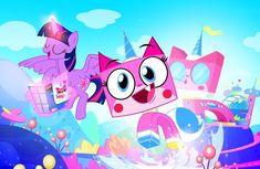 #1595541 - alicorn, artist:pixelkitties, carla castañeda, cartoon network, crossover, duo, female, instruction manual, lego, lego building instructions, mare, pixelkitties' brilliant autograph media artwork, pony, safe, tara strong, the lego movie, twilight sparkle, twilight sparkle (alicorn), unikitty, unikitty! (tv series), voice actor joke - Derpibooru - My Little Pony: Friendship is Magic Imageboard