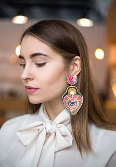 handmade in france, duplictaed piece afeter piece, stunning wearable art to shine like no other with a jewel you won't see on nobody else. Shipping worldwide from the eshop. New Chic, Wearable Art, The Incredibles, France, Drop Earrings, Jewels, Amazing, How To Make, Handmade