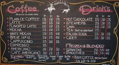 very nice chalk menu