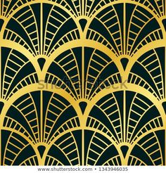 Golden lined shape. Luxury Background, Geometric Tiles, Tile Patterns, Art Deco Fashion, Plant Leaves, Abstract Art, Frames, Modern, Illustrations