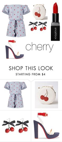 """cherry bomb"" by nyjia-1 ❤ liked on Polyvore featuring Draper James, Christian Louboutin and Smashbox"