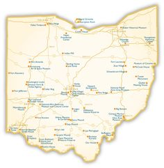 Maps Ohio Map Of Ohio Cities Ohio Road Map C Pinterest - Ohio road map