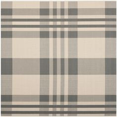 This durable indoor/outdoor rug provides a stylish highlight to pool areas, decks and patios. Weather resistant and featuring a handsome plaid pattern, this versatile rug makes a welcome addition to the decorative theme of any outdoor environment.