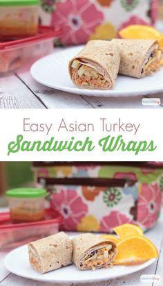 Easy Asian Turkey Sandwich Wraps