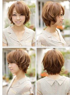 soft curly short hair, love the last pic, the wavy, loose back
