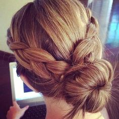 casual braid bun hairstyle - Hairstyles and Beauty Tips