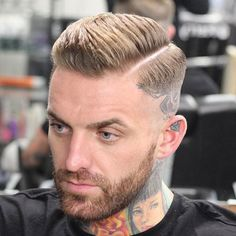High Razor Fade with Part and Beard - Best Comb Over Fade Haircuts For Men: Cool Men's Comb Over Fade Hairstyles For Guys Short Layered Haircuts, Short Hair Cuts, Short Hair Styles, Mens Toupee, Hair Toupee, Fade With Part, Comb Over Fade Haircut, Fade Haircut With Beard, Beard Haircut