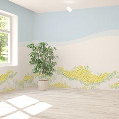 ラフなタッチで優しく描かれた花畑の壁紙。 リビングや玄関はもちろん、病院やホテルへもオススメします。 Plant Wallpaper, Tapestry, House Design, Plants, Home Decor, Hanging Tapestry, Tapestries, Decoration Home, Room Decor
