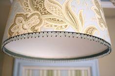 lampshade for kitchen redo idea