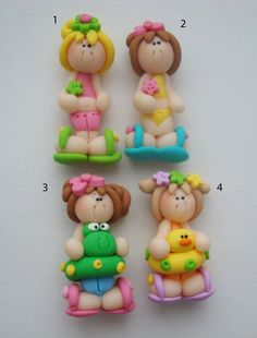 Beach Girl Polymer Clay Charm Bead Scrapbooking by rainbowdayhappy