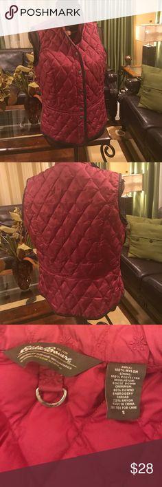 Eddie Bauer Vest S Burgundy Vest size M in good shape. Non smoking Home. Eddie Bauer Jackets & Coats Vests