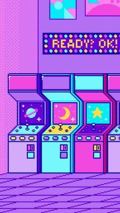 vaporwave art Wallpapers de Pixel Art V - vaporwave Pastel Wallpaper, Kawaii Wallpaper, Tumblr Wallpaper, Cool Wallpaper, Wallpaper Backgrounds, Iphone Wallpaper, Normal Wallpaper, Phone Backgrounds, Purple Aesthetic