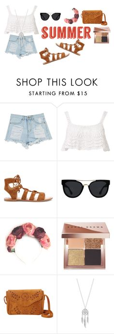 """Untitled #6"" by tashajulia on Polyvore featuring Beauty & The Beach, Dolce Vita, Quay, Crown and Glory, Bobbi Brown Cosmetics, Lucky Brand and summersandals"
