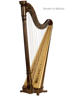 Lyon & Healy Prelude 40 Lever  Harp ~~ love the detailing on this, but it's a little more expensive than the Hermes :(