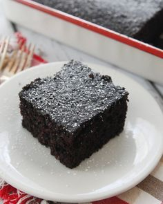 Chocolate Mayonnaise Cake-a moist crumb cake with a rich chocolate flavor!