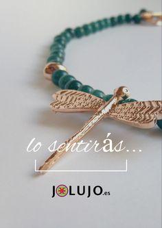 Lo sentirás. Collar Libélula. www.jolujo.es