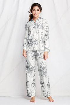 Women s Long Sleeve Piped Flannel Sleep Top from Lands  End. kirsten  lipschitz · Sleepwear c68c652b2
