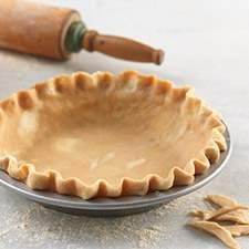 Whole Wheat Pie Crust - Flourish - King Arthur Flour: Flaky, buttery, delicious. and whole wheat? Creating a picture-perfect whole wheat pie crust is as easy as (you guessed it) pie! No Roll Pie Crust Recipe, Gluten Free Pie Crust, Pie Crust Recipes, Flour Recipes, Pie Crusts, Pastry Recipes, Tart Recipes, Bread Recipes, Whole Wheat Pie Crust