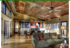 Rustic barn living room and kitchen Google Search
