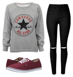 """I Can Feel You Leaving."" by youre-555-im-666 ❤ liked on Polyvore featuring Converse, Vans, women's clothing, women, female, woman, misses and juniors"