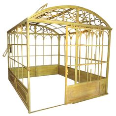 I need this...  Antiqued Green Iron Greenhouse With Rounded Roof