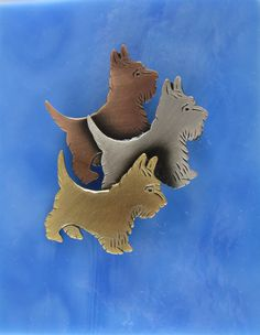 Terrier Family Brooch by PINSwithPERSONALITY on Etsy, 16.00
