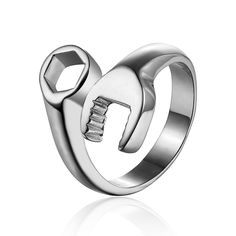 Free Shipping Biker ring spanner stainless steel ring The European and American fashion men's ring