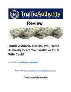 Traffic Authority Review. Reliable Traffic Source or Flop? Document Sharing, Internet Marketing, The Originals, Online Marketing