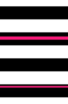 Black, white and neon pink stripes Art Print by Lola | Society6