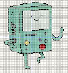 Buzy Bobbins: BMO/ Beemo from Adventure time cross stitch design