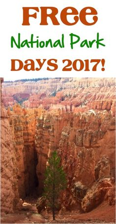 Free National Park Entrance Days in 2017!  Get ready to explore one of your favorite National Parks for free! See full list at NeverEndingJourneys.com