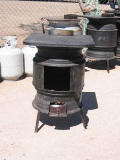A description of this stove made from old rims is partway down, in the middle of an interesting blog about car camping in Mexico.